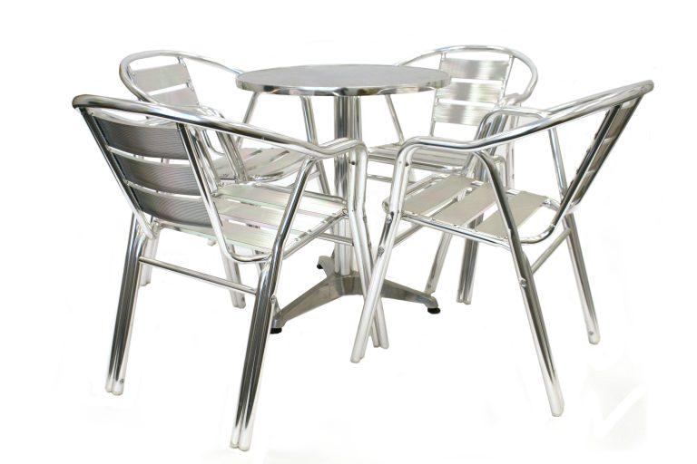 Aluminium Cafe Bistro Set - BE Furniture Sales