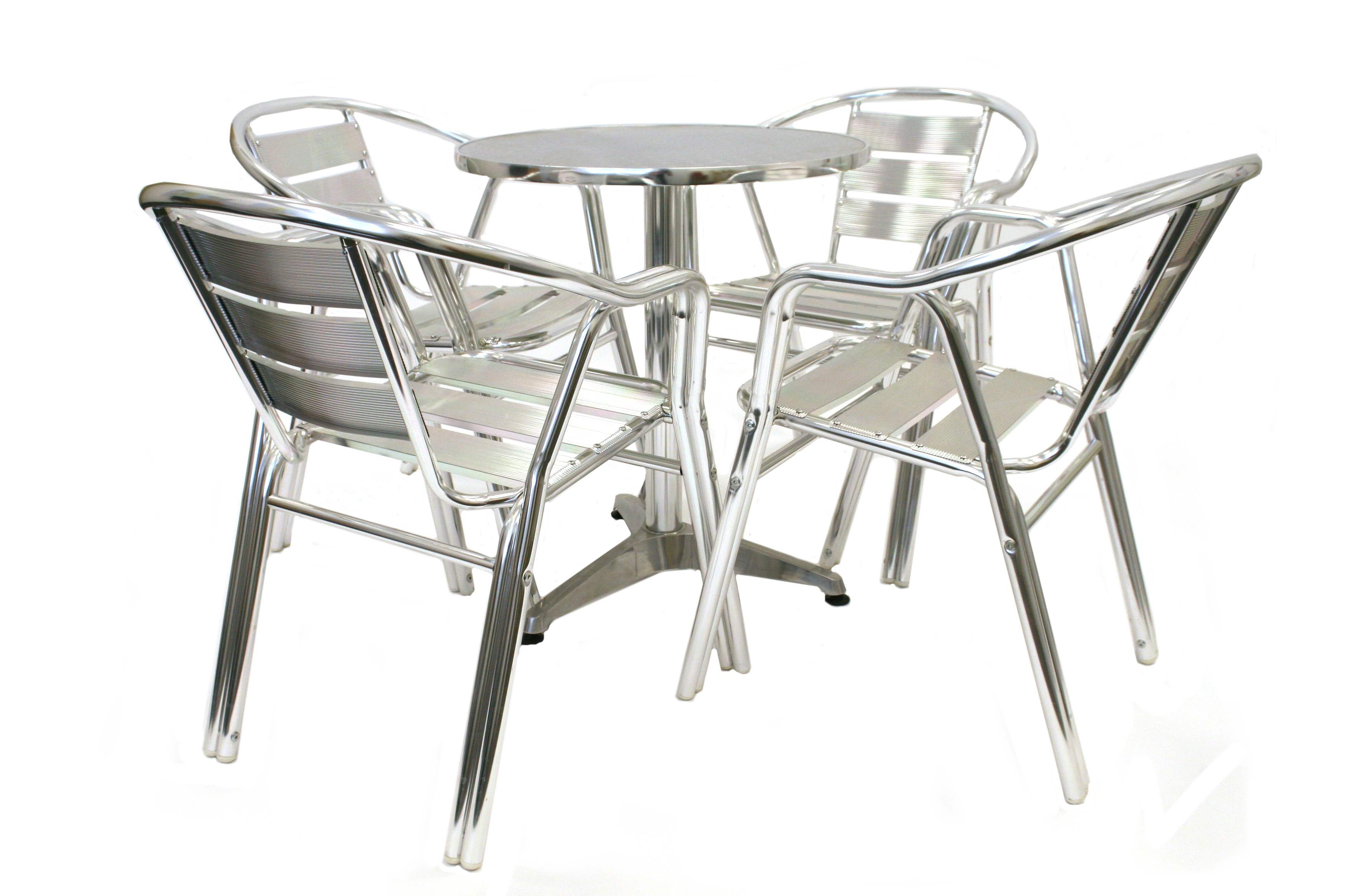 Commercial aluminium cafe set - BE Furniture Sales