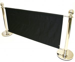 Stainless Steel Cafe Barrier Sets - BE Event Hire