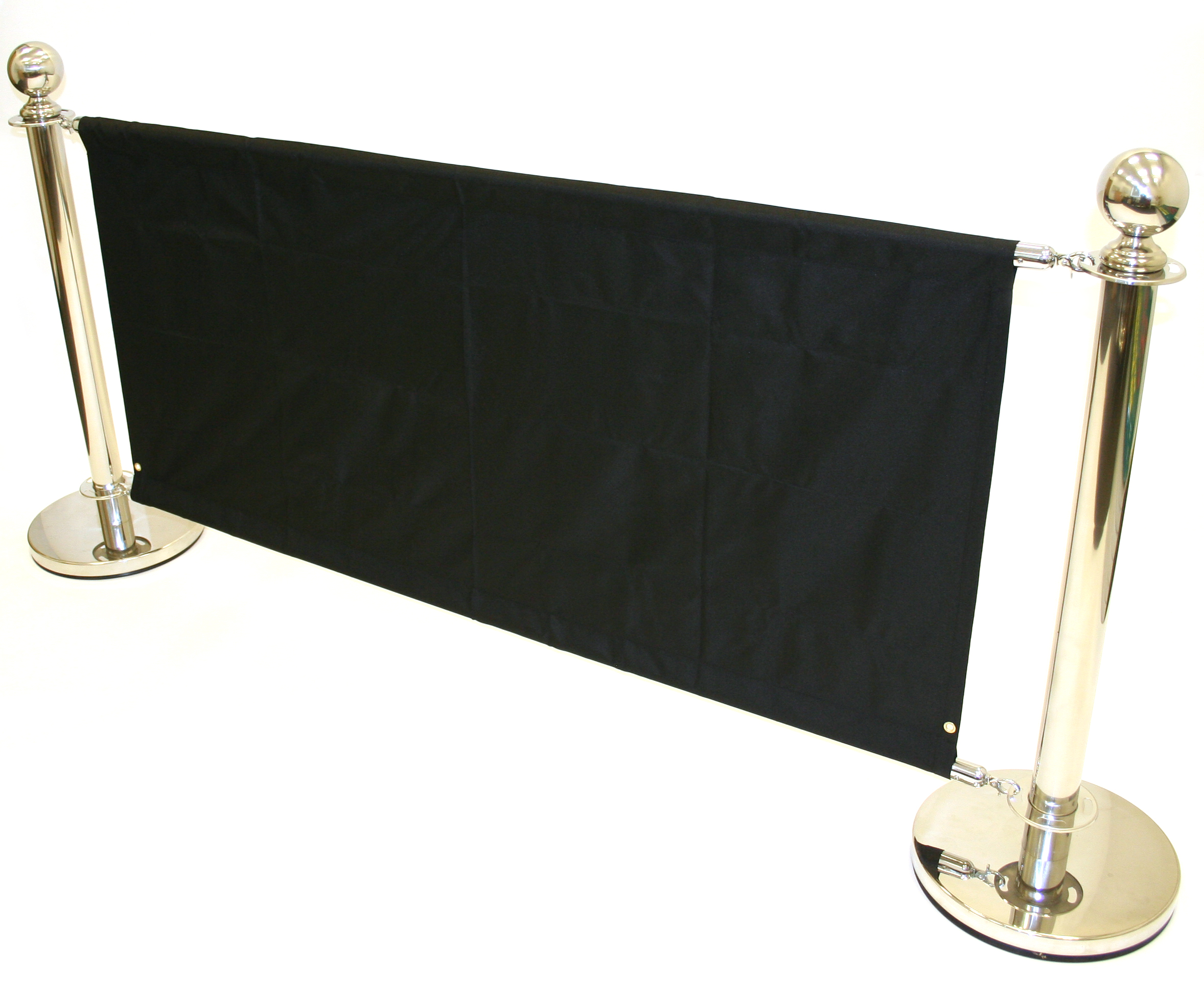 Cafe Barrier Sets - 2 x Upright Posts, 2 x Bases, 2 x Cross Poles - BE Furniture Sales