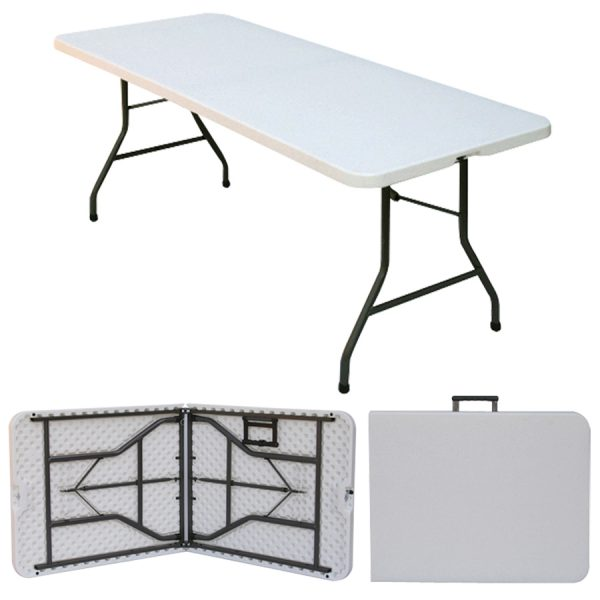 5 4 Quot X 2 4 Quot Folding Blow Mold Trestle Table Fold In Half