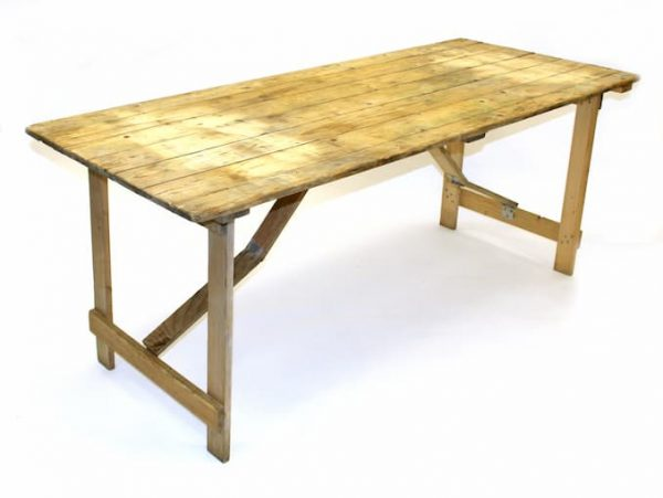 Ex Hire 6' x 2'6'' Trestle Tables - BE Furniture Sales