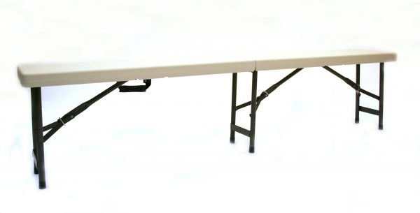 Plastic Folding Benches - 1.8m White Blow Mold Bench - BE Furniture Sales