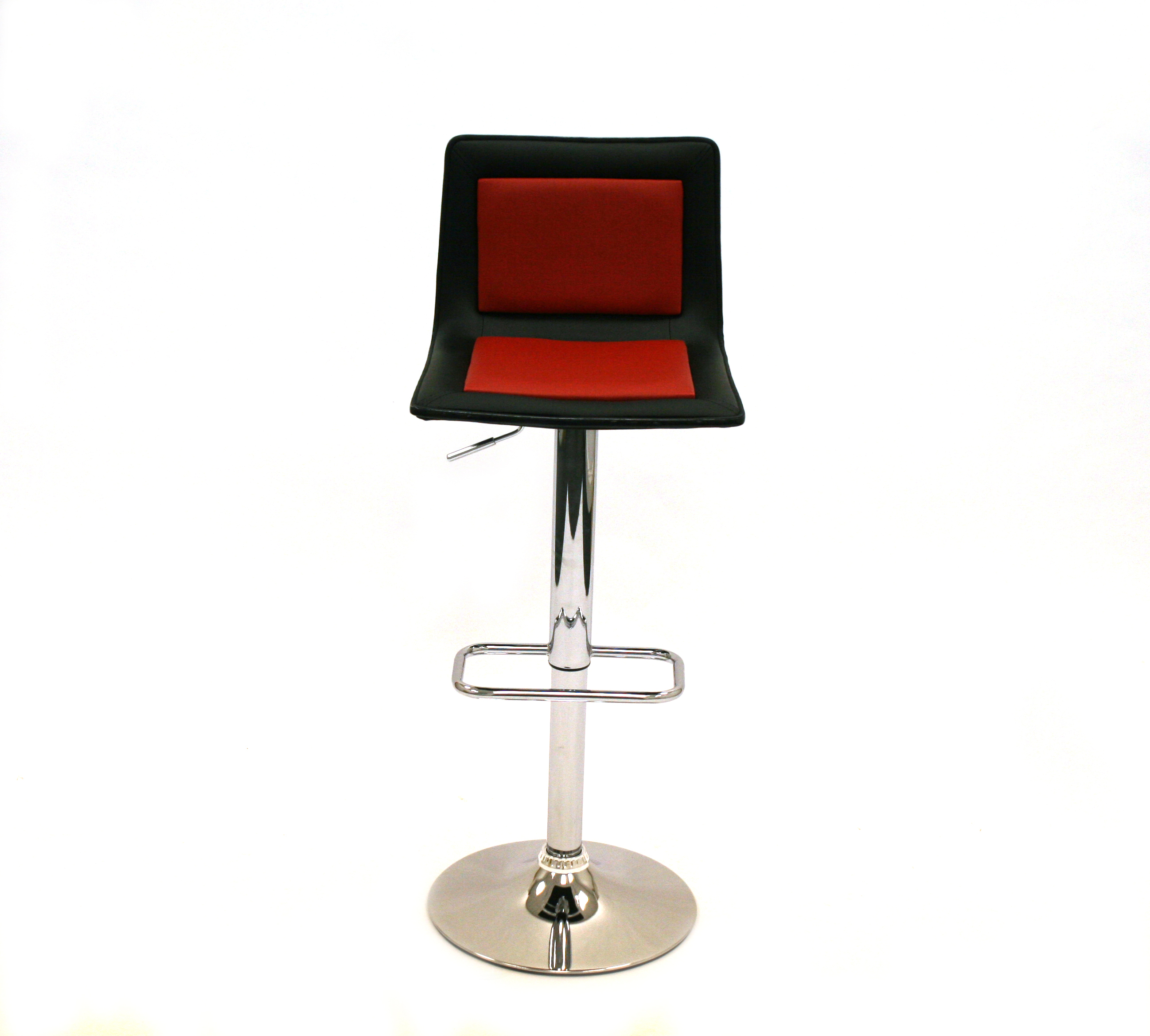 Black Amp Red Leather Bar Stools Ex Hire Be Furniture Sales