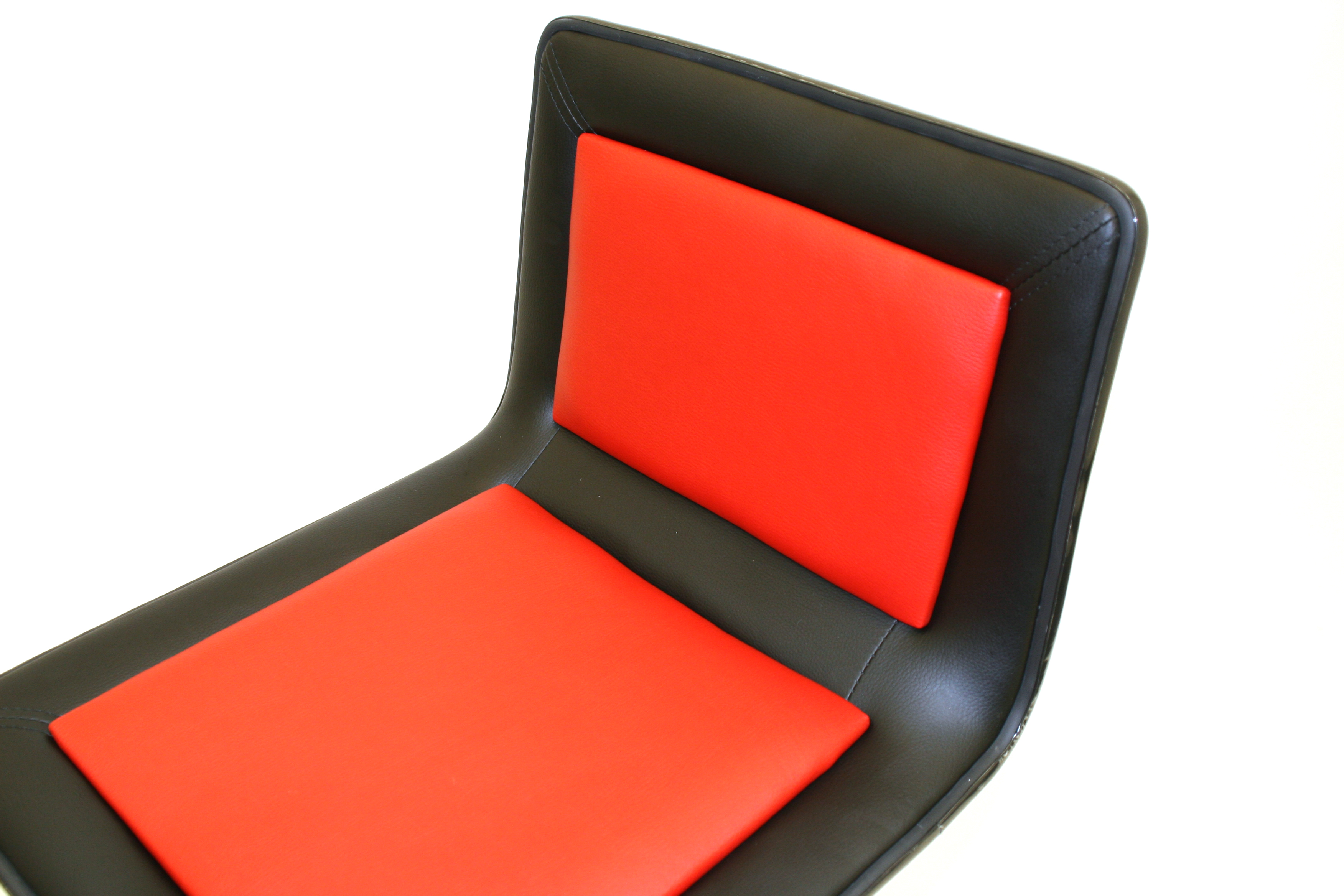 Black & Red Leather Bar Stools - BE Event Hire