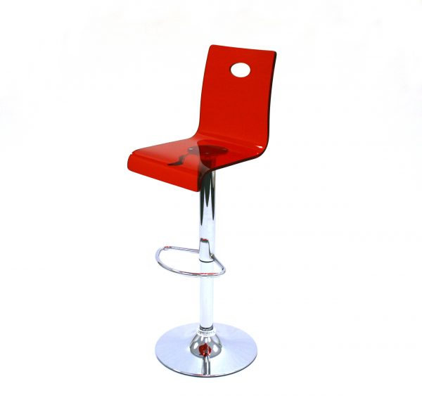 EX Hire Red Acrylic Bar Stools - Bistros, Cafes & Exhibitions - BE Furniture Sales