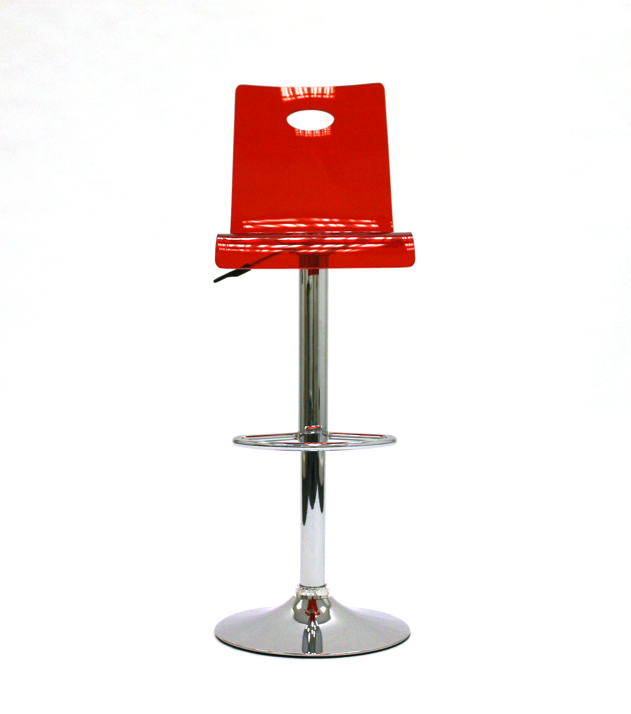 Ex Hire Red Gas Lift Bar Stools - BE Event Hire