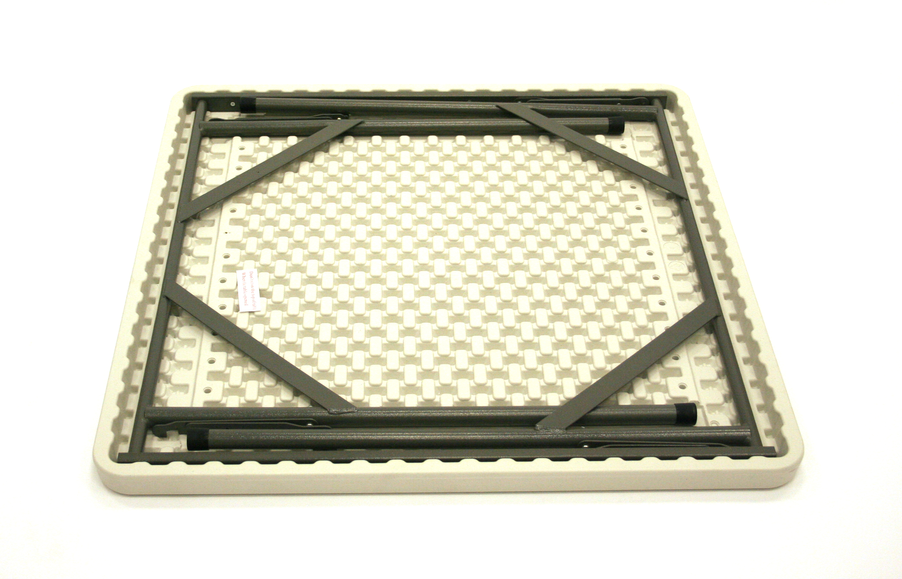 Blow Molded Square Table 89cm White Catering Events