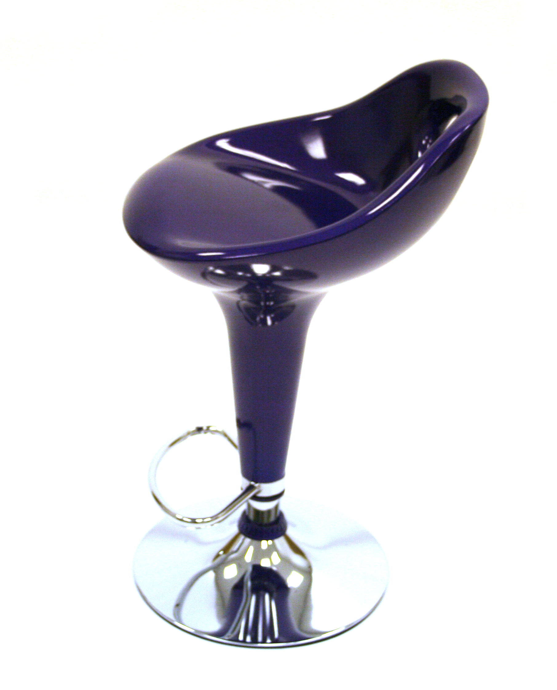 Purple Plastic Bar Stools Cafes Bistros Or Home Use
