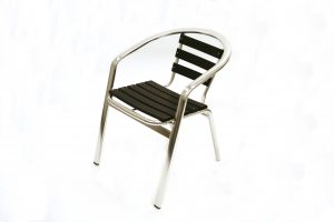 Black Weatherproof Durawood garden Patio Balcony Chair - BE Event Hire