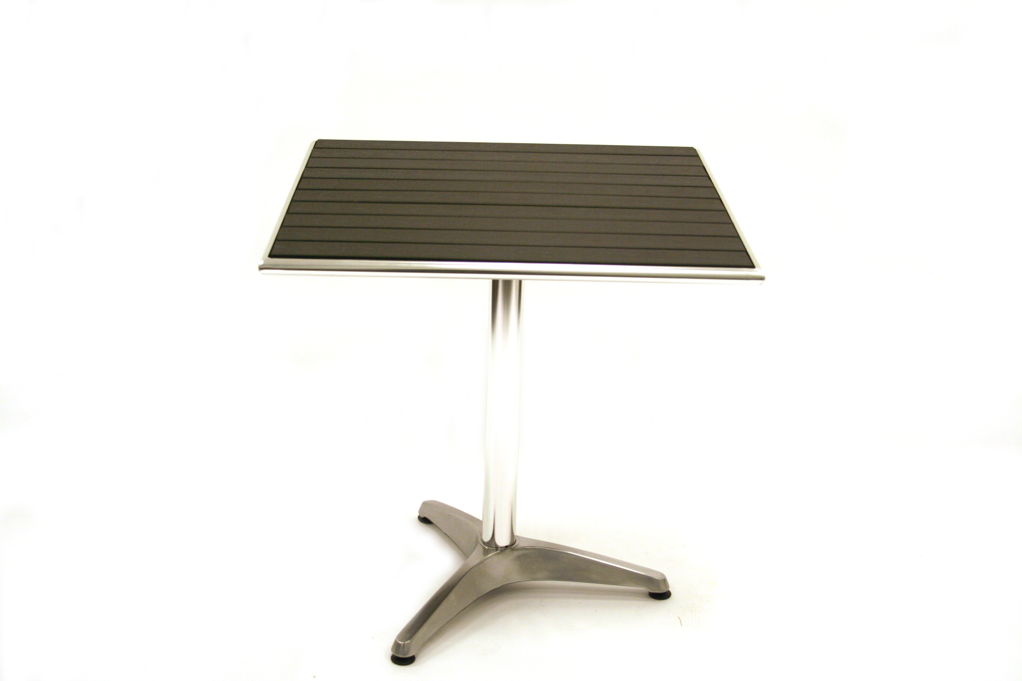 Black weatherproof Durawood Table Garden Patio furniture - BE Event Hire