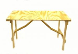 Plywood Trestle Table - 4' by 2' - BE Furniture Sales
