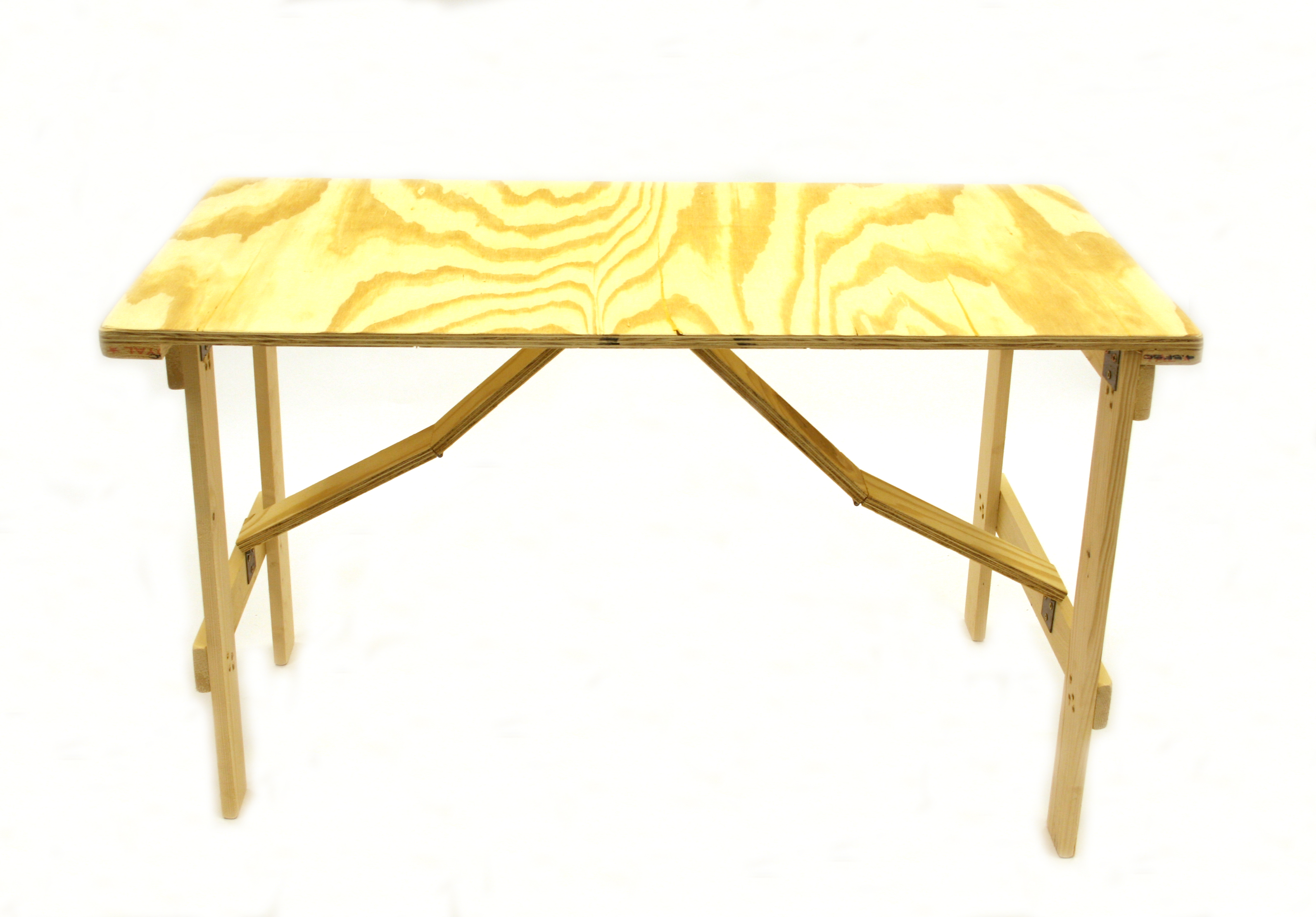 Ply wood  4' x 2' Trestle Table with folding legs  - BE Event Hire