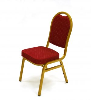 Premium Red Banqueting Chairs - Gold Frame - BE Furniture Sales
