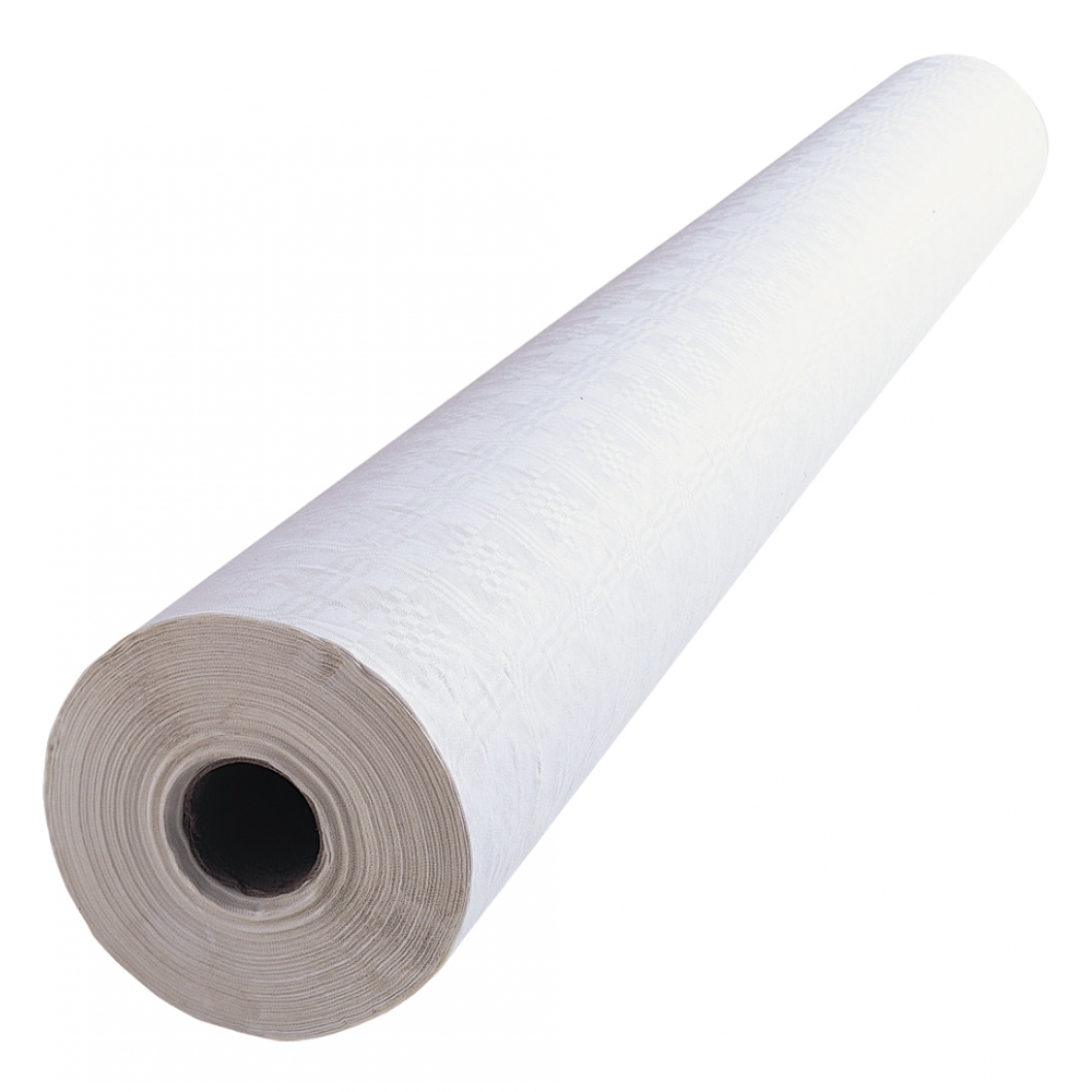 90 Metre long White thick Paper Banquet Roll - BE Event Hire