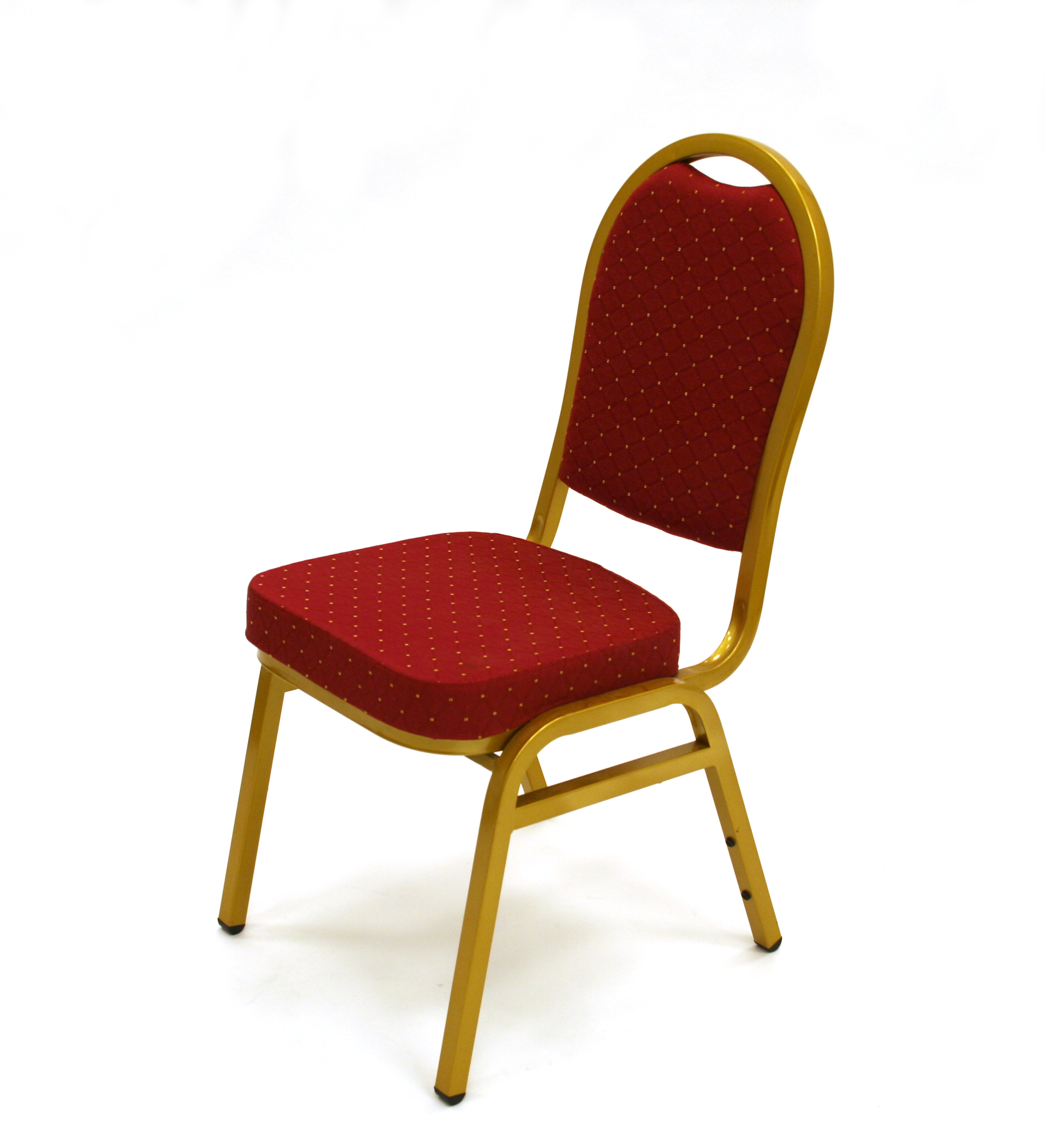 Premium Red Banqueting Chair - Gold Frame - BE Furniture Sales