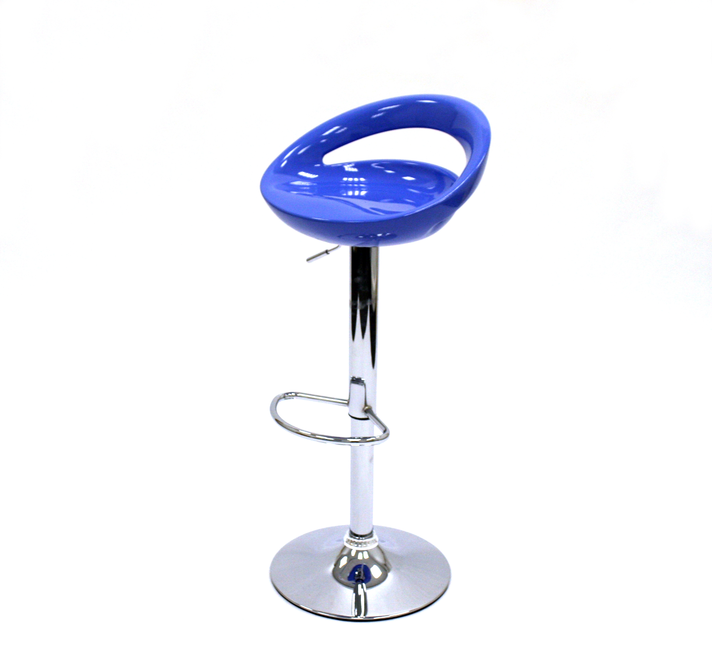 Ex Hire Blue Gas Lift Bar Stools - BE Event Hire
