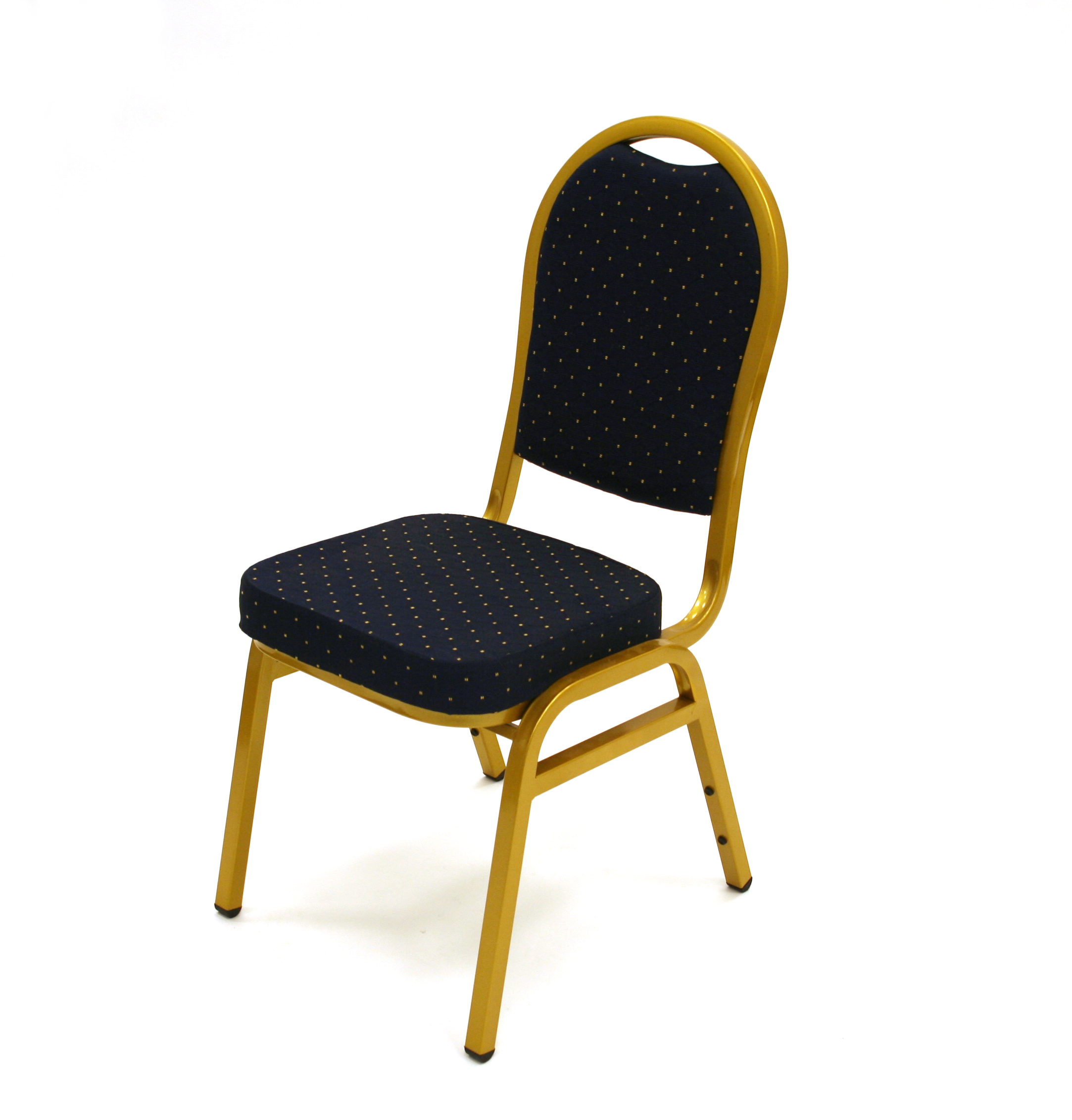 Blue Banqueting Chair with Gold Frame - Premium - BE Furniture Sales