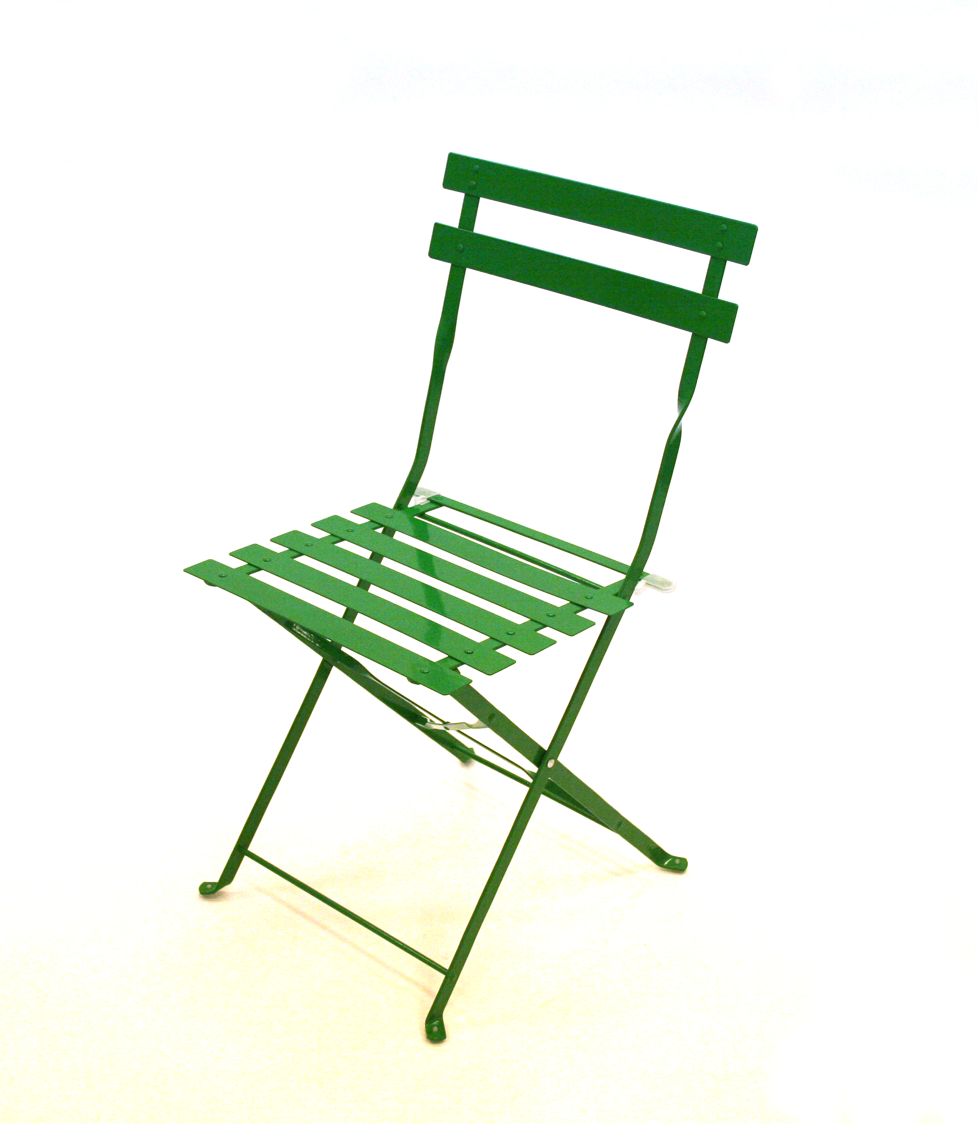 Green metal folding bistro balcony patio table and chair set - BE Event Hire