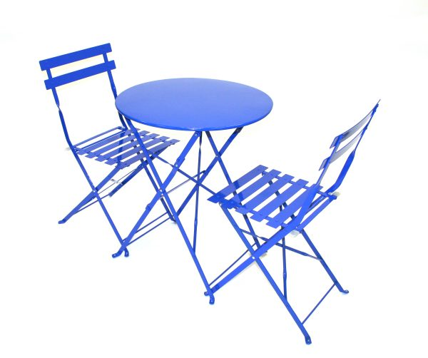 Blue Metal Bistro Patio Balcony Sets - BE Event Hire