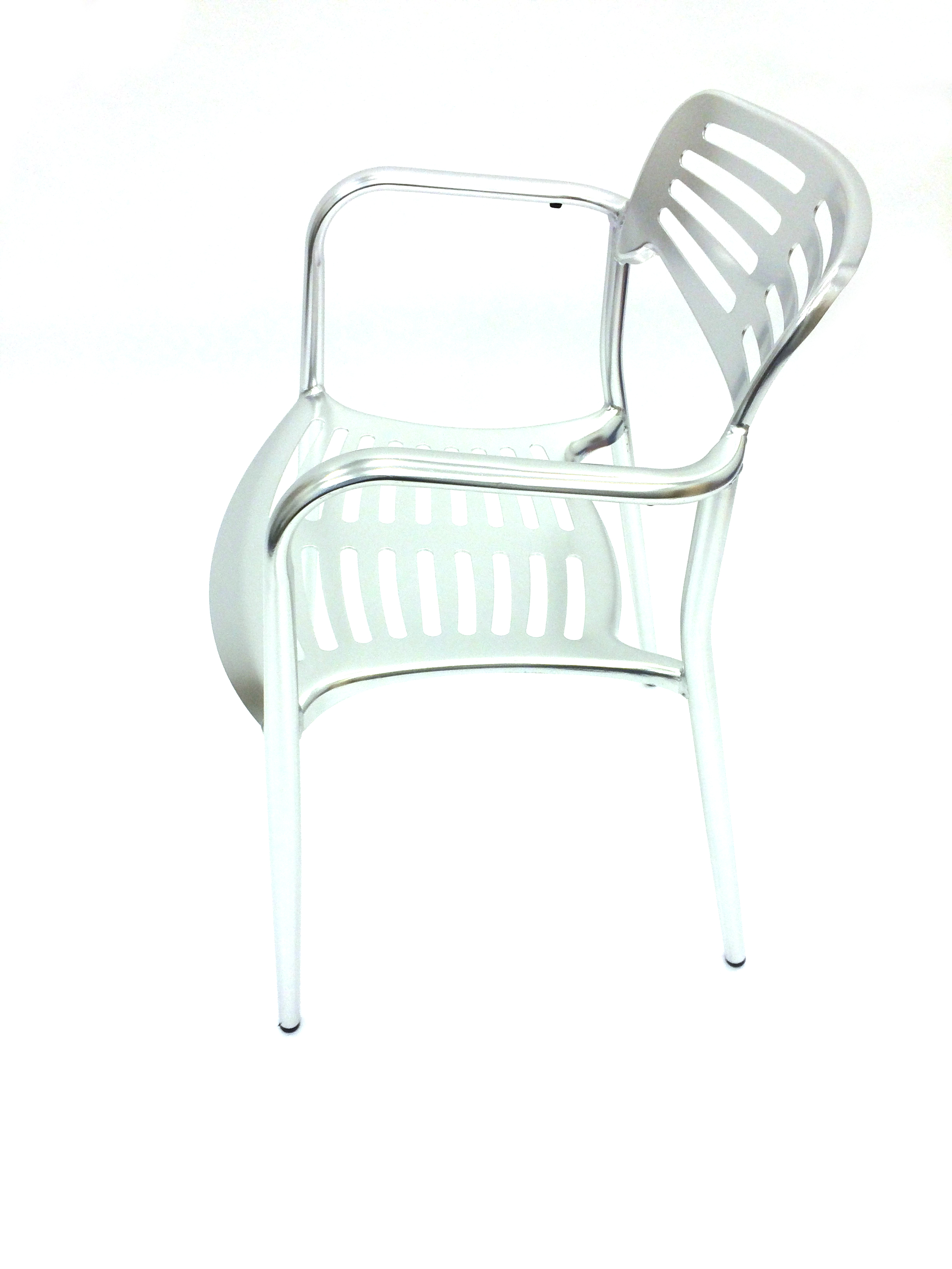 High quality Lightweight welded aluminium bistro chair - BE Event Hire
