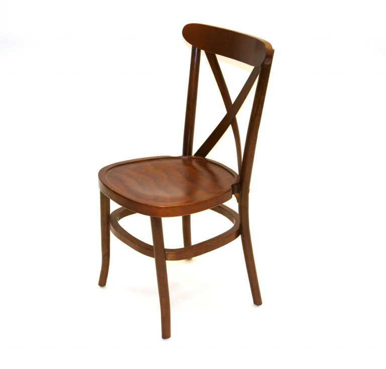 Traditional Cross Back Wooden Chairs - BE Furniture Sales