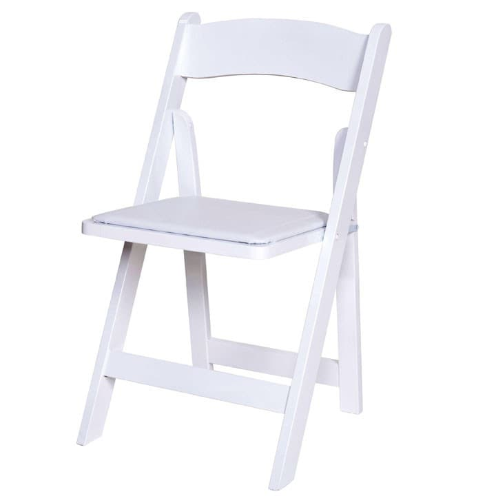 White Wooden Folding Chair - BE Furniture Sales