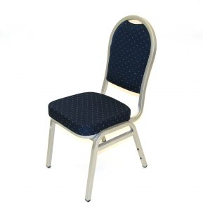 Premium Blue Banqueting Chairs with Silver Frame - BE Furniture Sales