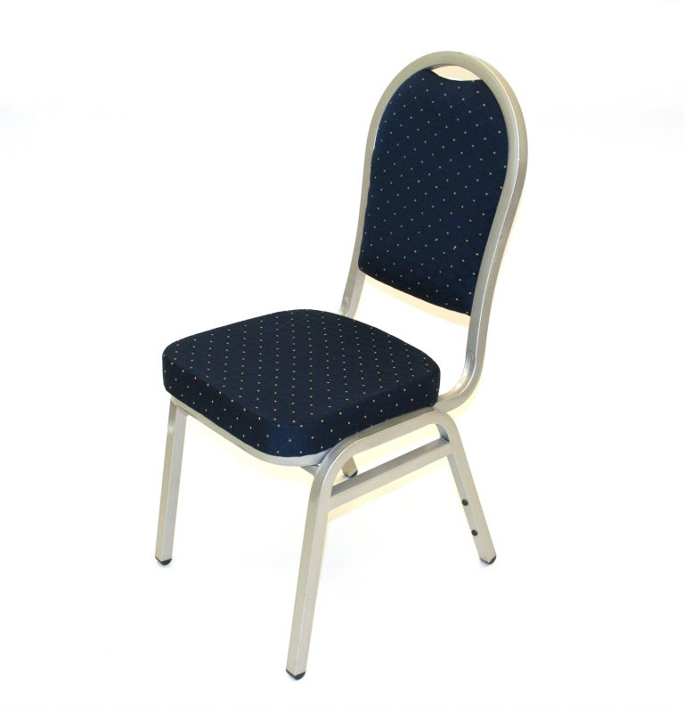 Premium Blue & Silver Banquet Chair - BE Furniture Sales