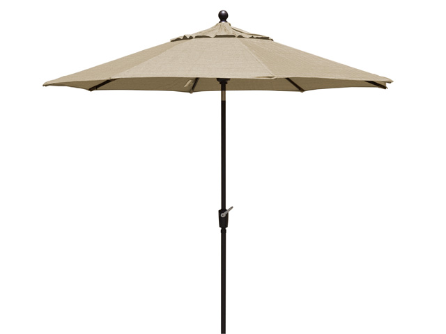 Khaki Patio Umbrella - 260 cm Diameter - BE Furniture Sales