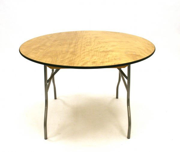 4' Diameter Banqueting Table - Varnished Top - BE Furniture Sales