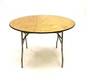 Round Banqueting Table - 6' Diameter Varnished - BE Furniture Sales