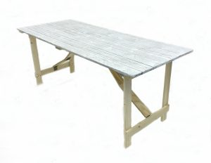 Distressed Trestle Tables