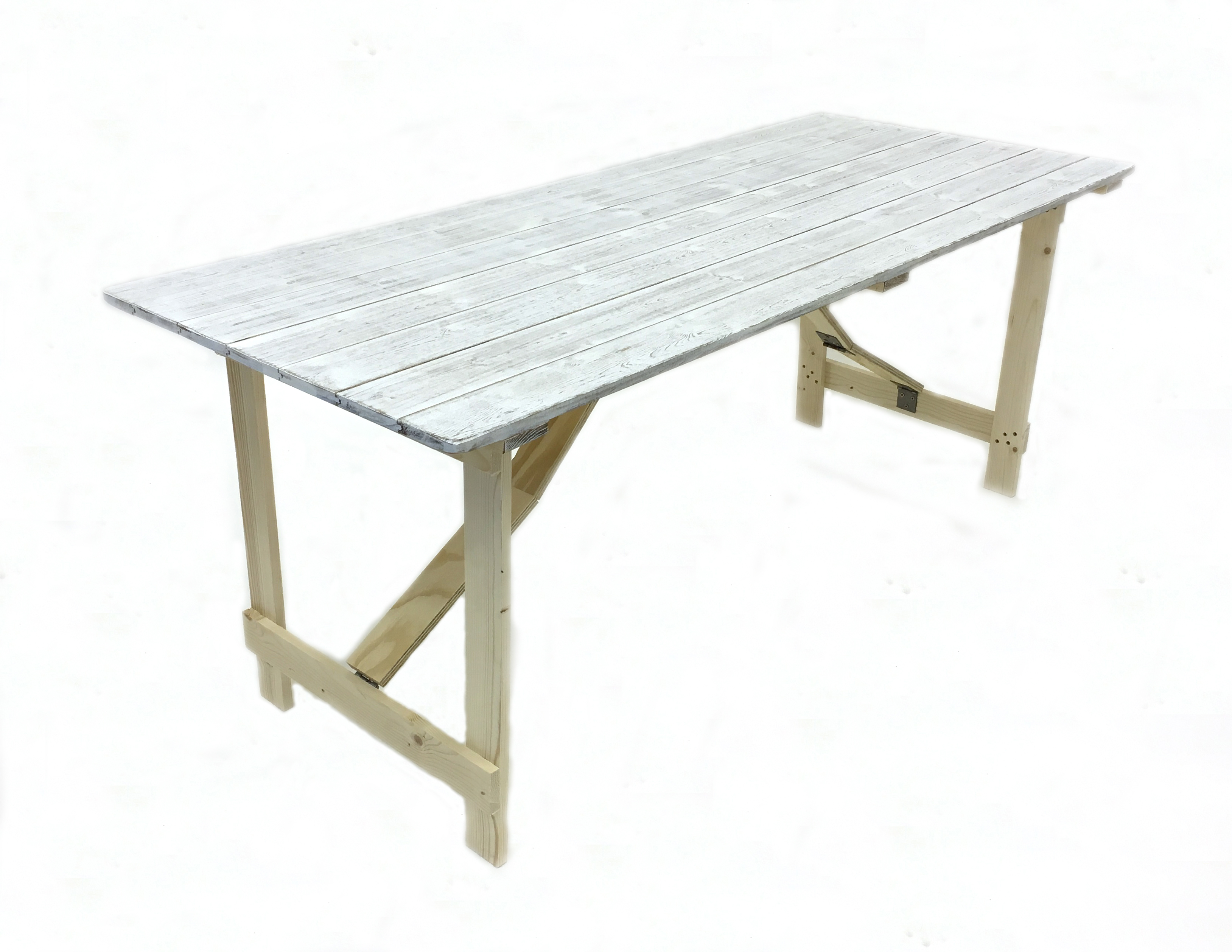 Distressed Wooden Trestle Table Sale - BE Furniture Sales