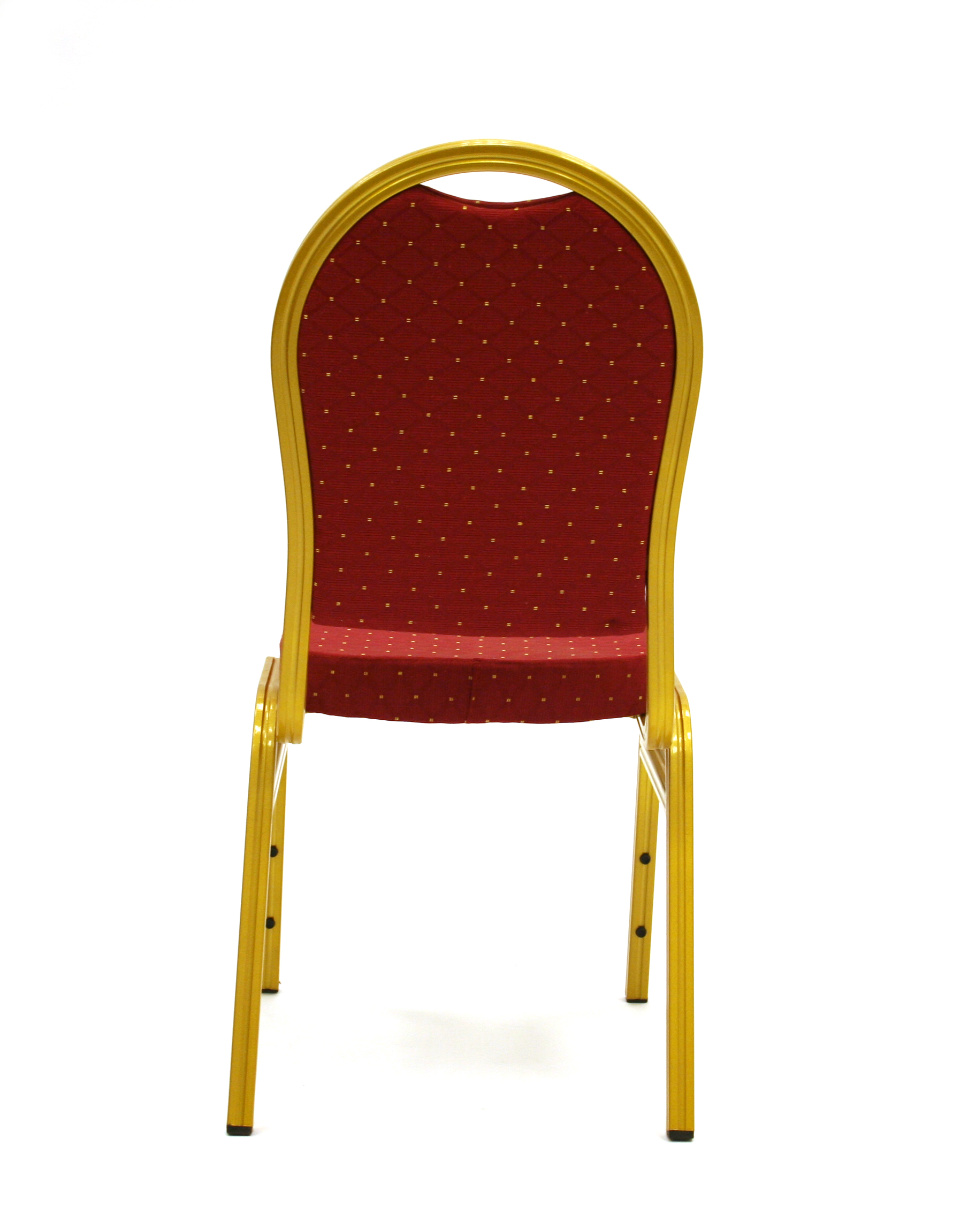 Back view of red and gold banqueting chair - BE Furniture Sales