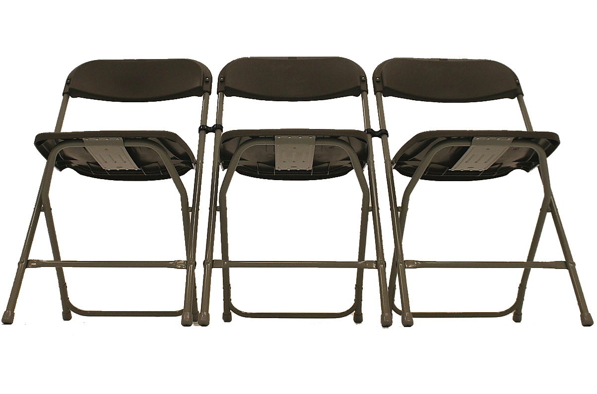Lightweight Brown Folding Chairs - BE Furniture Sales