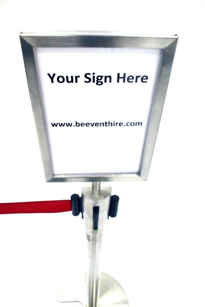 Stretch Barrier A4 Sign Holder (Portrait) - BE Furniture Sales