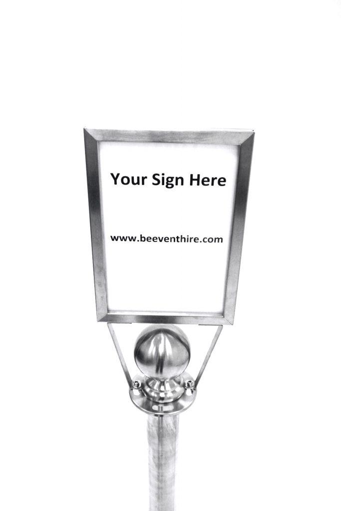 A4 Sign Holder (Portrait) - Barrier Post Sign - BE Furniture Sales