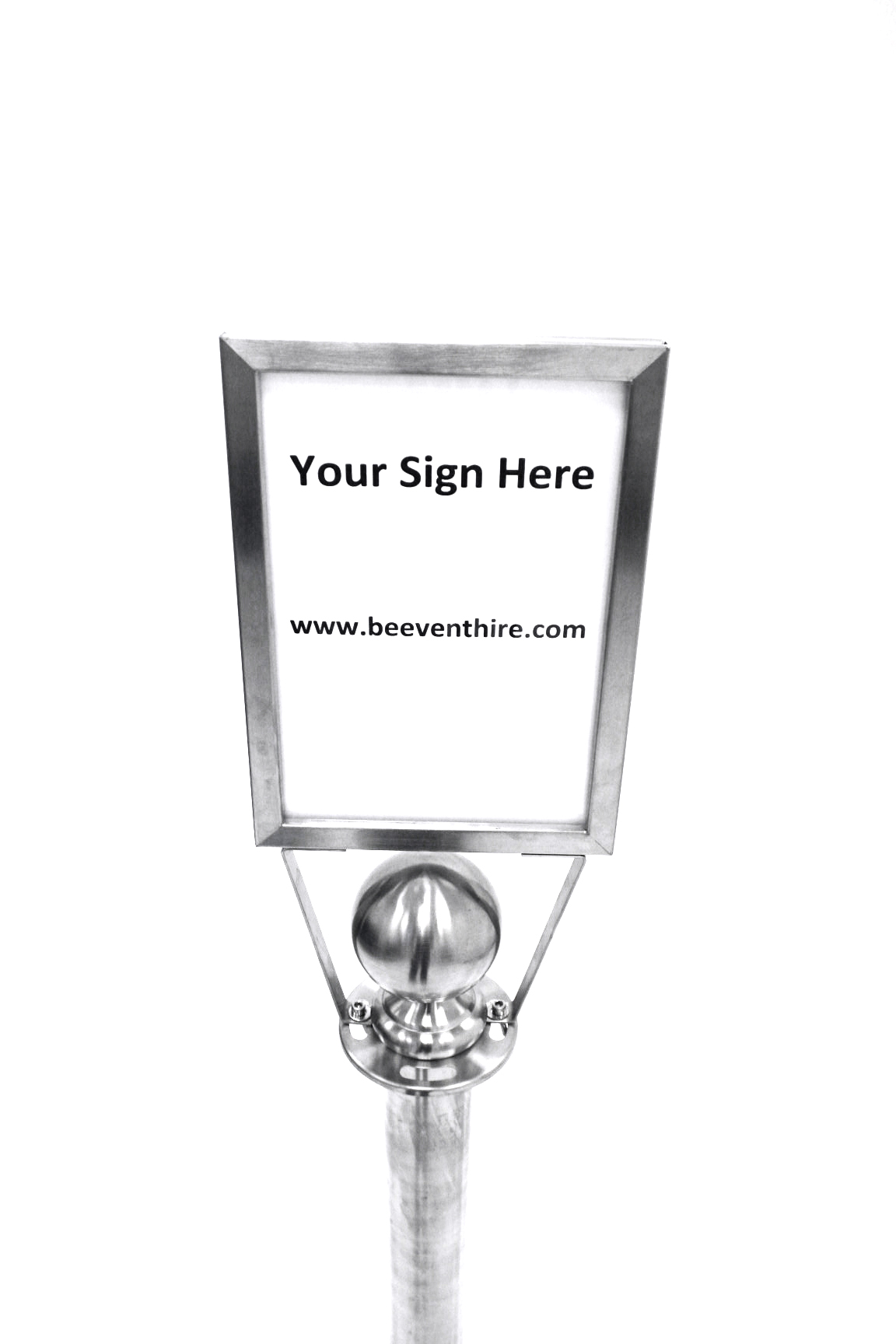 A4 Sign Holder (Portrait) - Barrier Post Sign - BE Furniture Sales