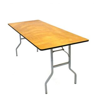 "Varnished Trestle Table - 6' x 2'6"" - BE Furniture Sales"