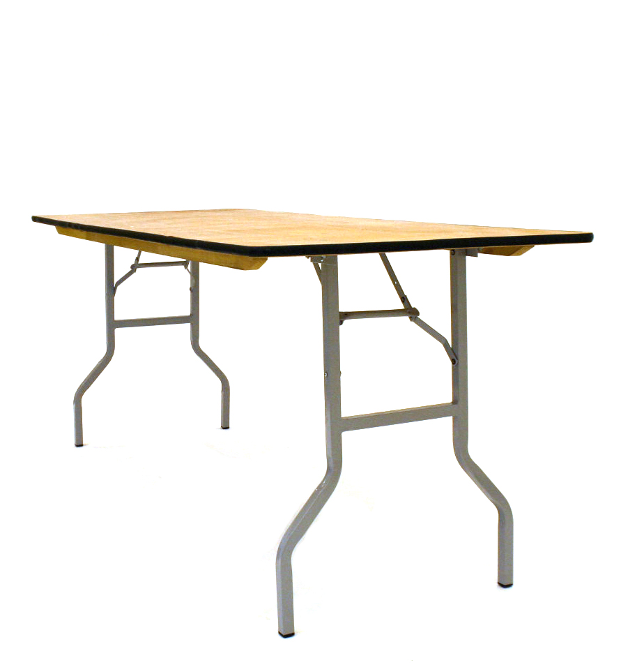 "Varnished Trestle Tables 6' x 2""6' for Sale - BE Furniture Sales"