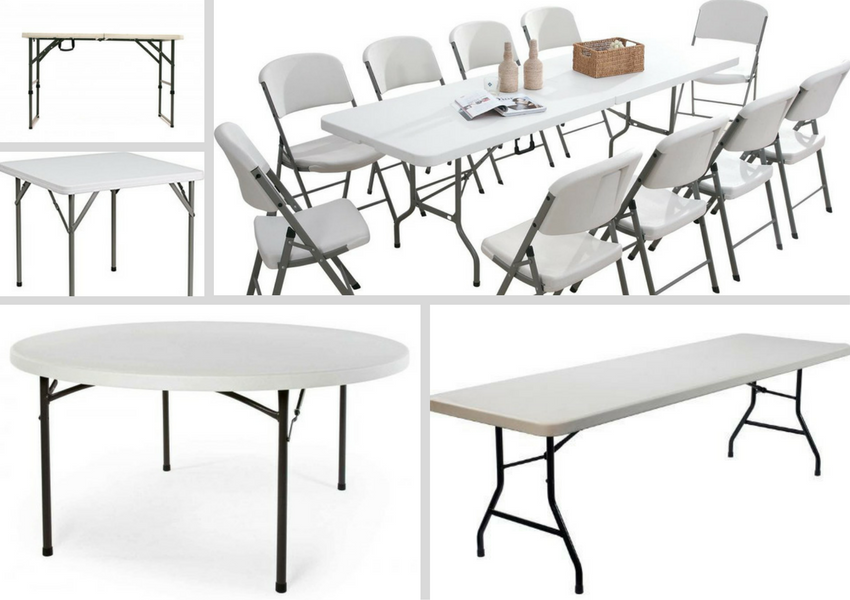 Buy White Plastic Trestle Tables - BE Furniture Sales