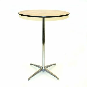 2 ft 6 Round Table - Metal Upright - BE Furniture Sales