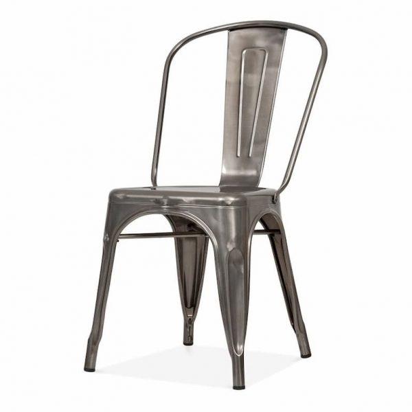 Gun Metal Silver Tolix Chairs - Restaurant, Cafe's, Bistros - BE Furniture Sales