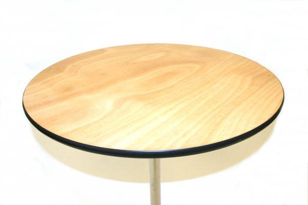 Close up of Varnished Wooden Bistro Table - BE Furniture Sales