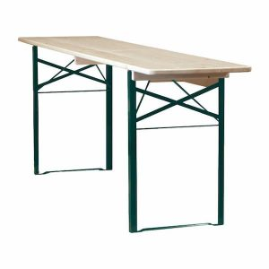 Varnished Beer Bench Trestle Tables - 2m Long - BE Furniture Sales