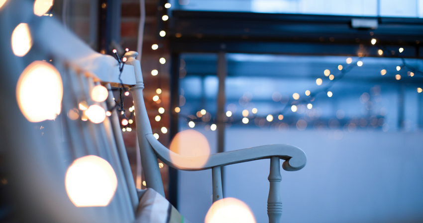 Use lights in your garden to create a magical space around your garden bistro set - BE Furniture Sales