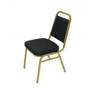 Black & Gold Banqueting Chairs - New - BE Furniture Sales