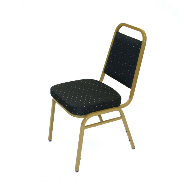 Black & Gold Budget Banquet Chair - BE Furniture Sales