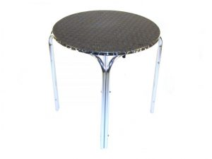 Round Aluminium Bistro Table - Rolled Edge - BE Furniture Sales